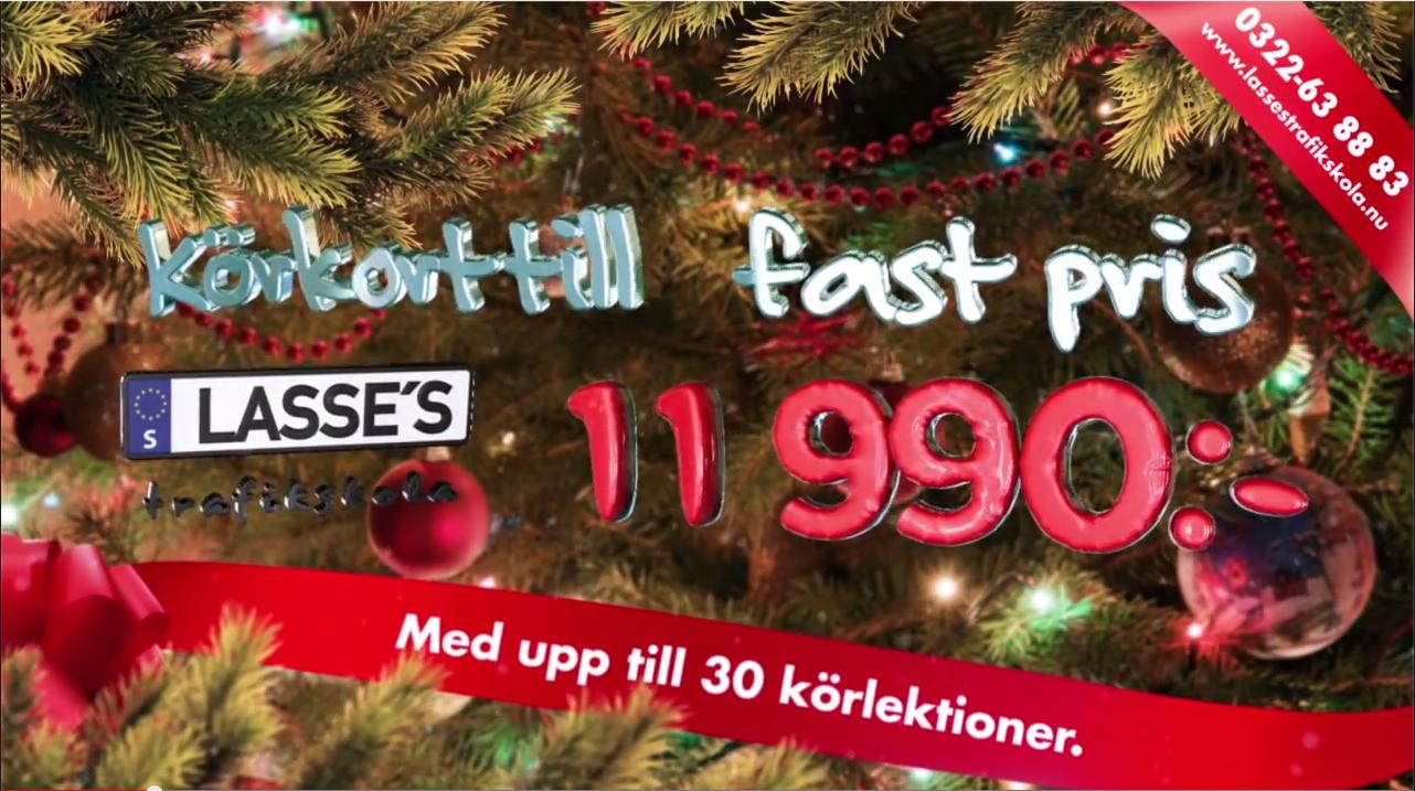 Jul kampanj för Lasses Trafikskola